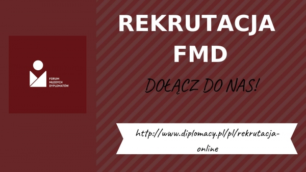 FMD rekrutuje: I Ty możesz zostać młodym dyplomatą!
