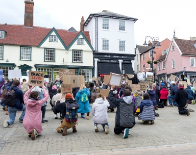 Black Lives Matter protest in Bury St Edmunds