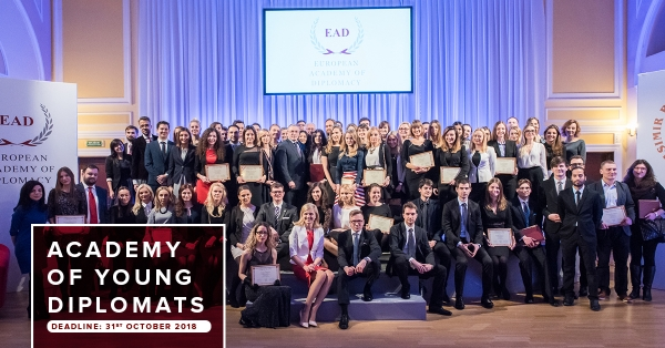 Akademia Młodych Dyplomatów - aplikacja 2018/2019 już otwarta!